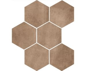 Gresie / Faianta CLAYS Earth Hexagon 21x18,2 cm